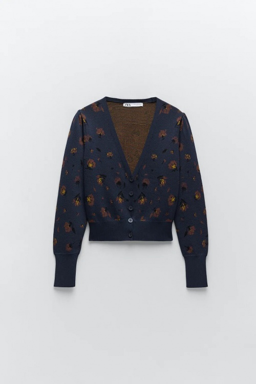 Zara - Gilet en maille jacquard