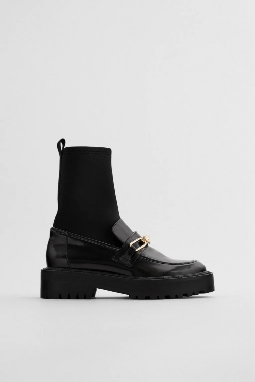 Zara - Bottines plates mocassins