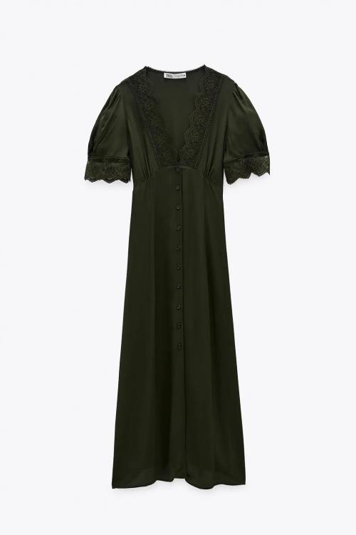 Zara - Robe mi-longue en dentelle
