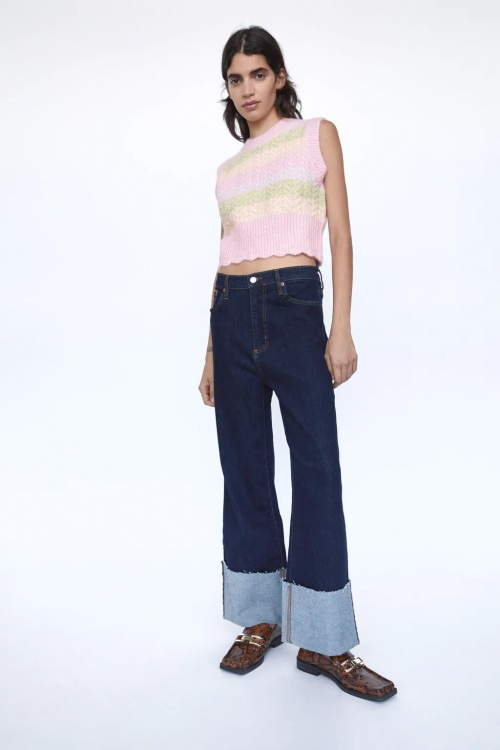Zara - Gilet à rayures sans manches