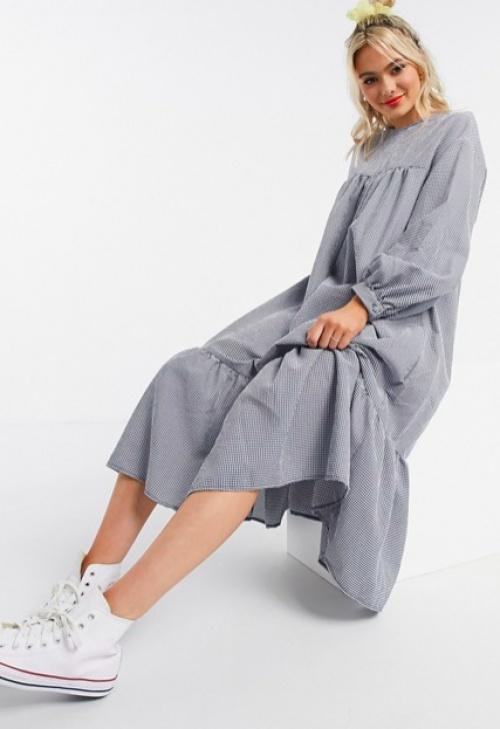Asos DESIGN - Robe babydoll longue