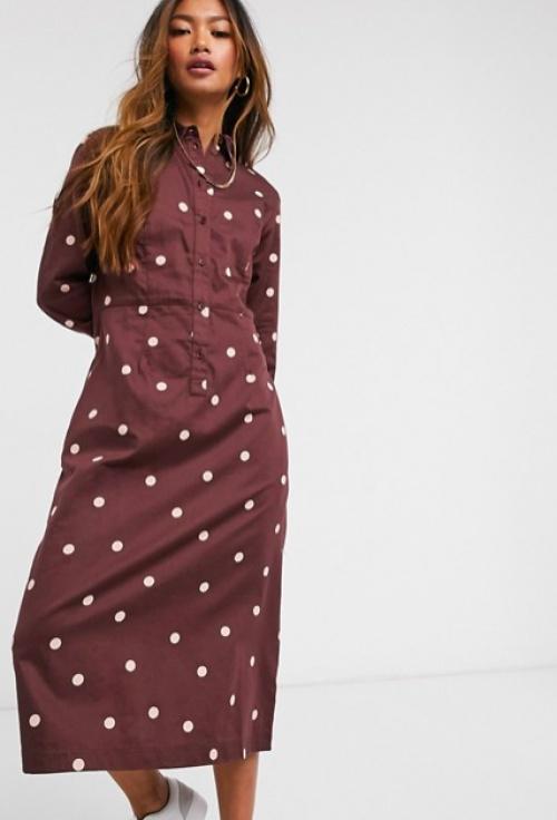 People Tree - Robe chemise à pois
