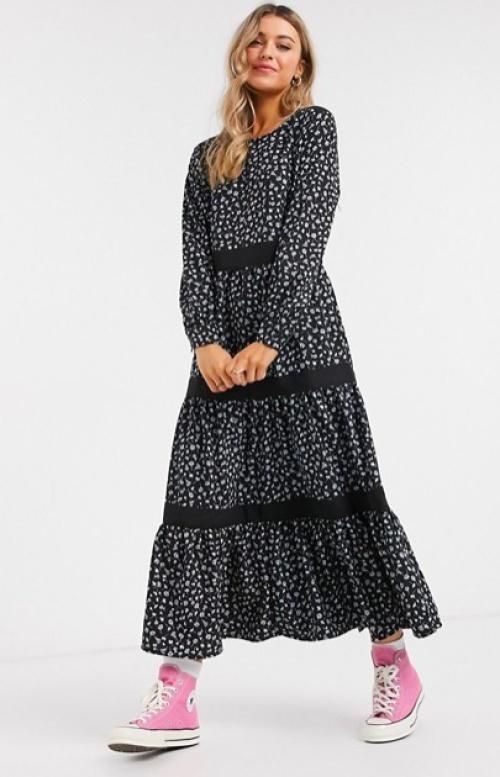 JDY - Robe longue à imprimé