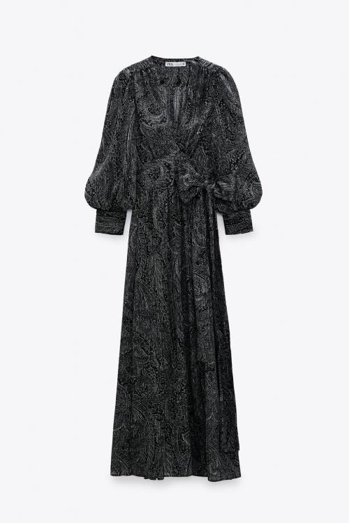 Zara - Robe longue à imprimé