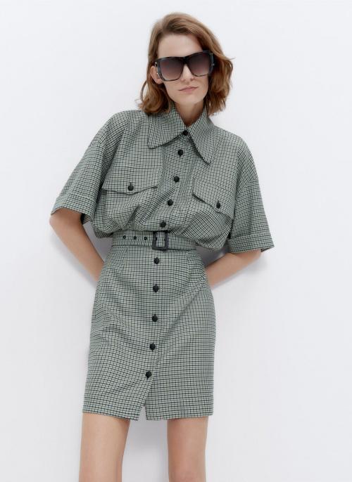 Uterque - Mini robe à carreaux