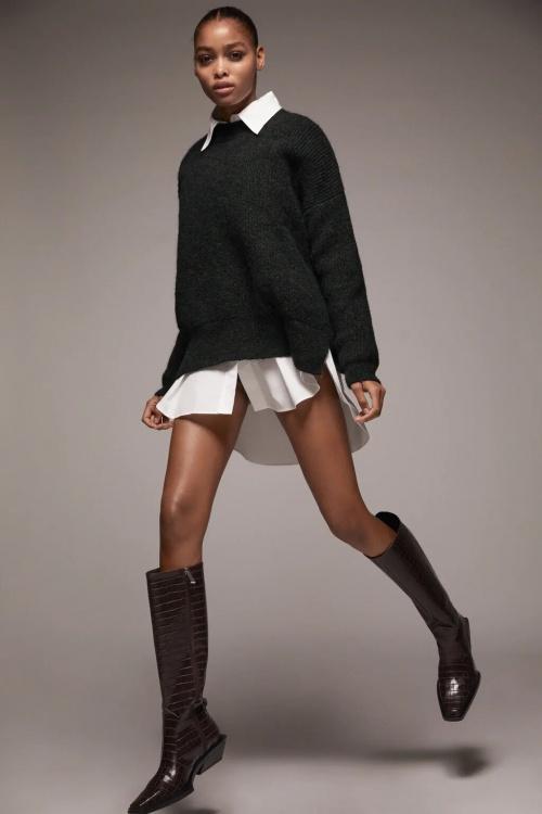 Zara - Pull en maille perlée