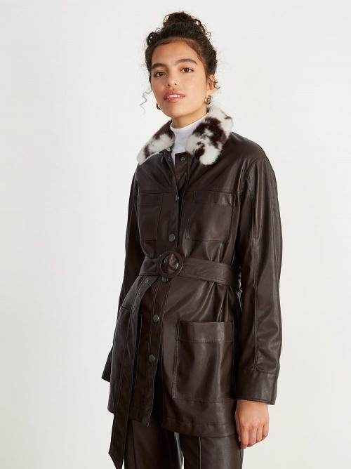 Kitri - Faux veste en cuir
