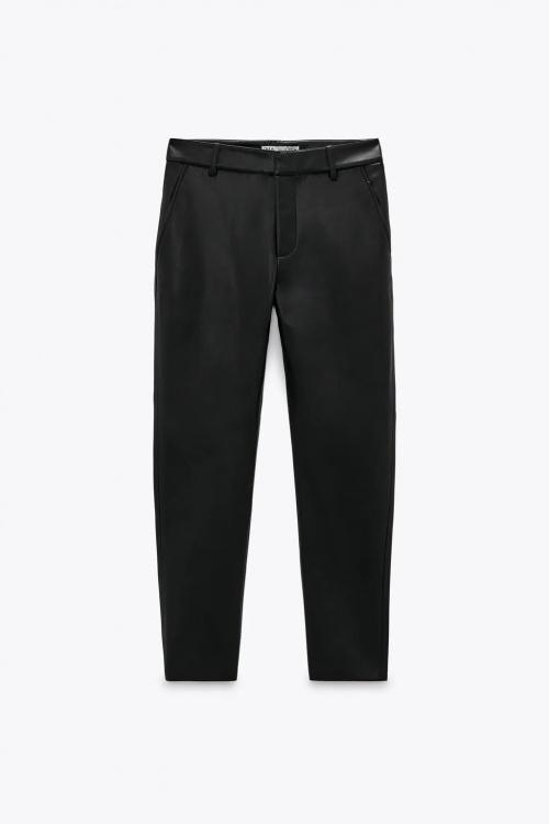 Zara - Pantalon en cuir synthétique