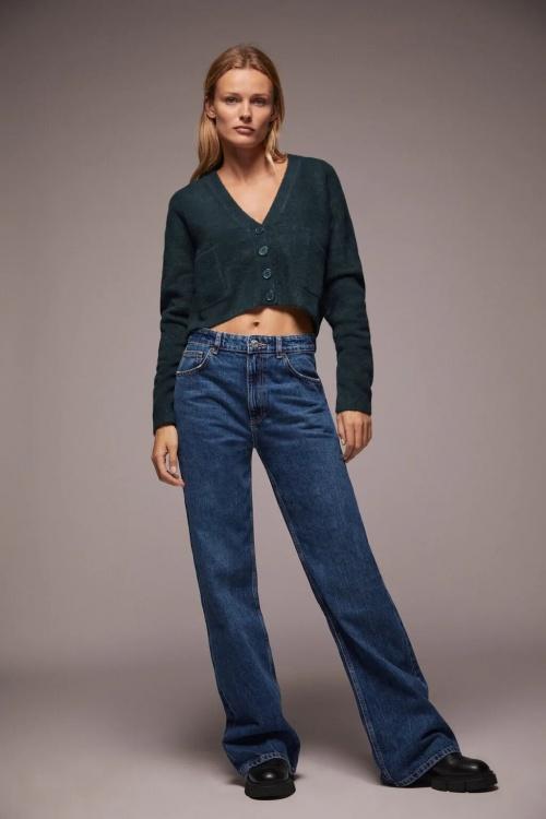 Zara - Veste courte en maille