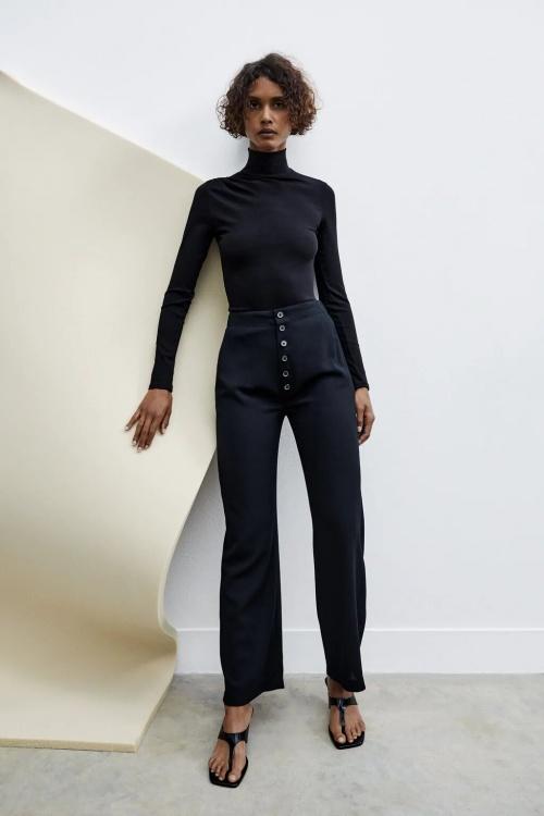 Zara - Pantalon à boutons