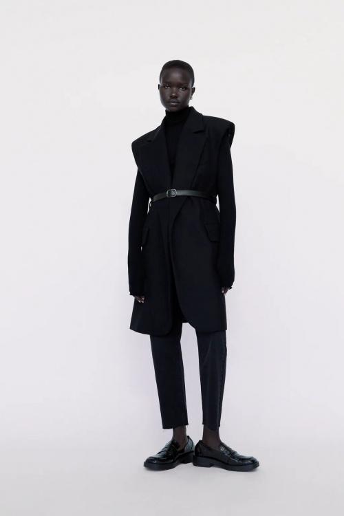 Zara - Gilet à épaulettes