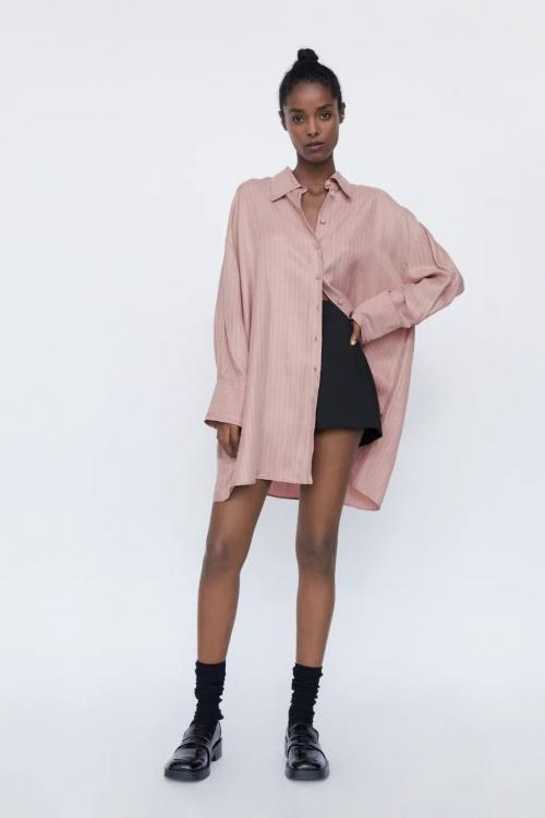 Zara - Chemise oversize à rayures