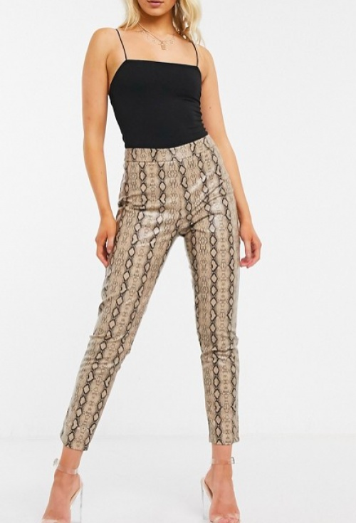 I Saw It First - Pantalon imprimé serpent