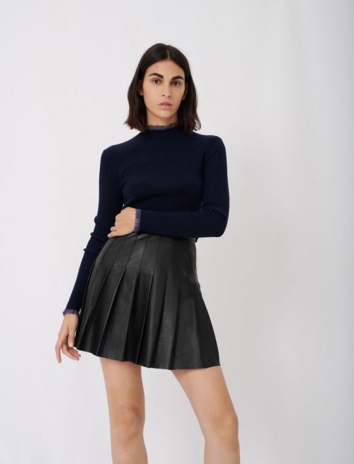 Maje - Mini jupe plissée