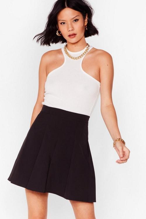 Nasty gal - Mini jupe plissée taille haute