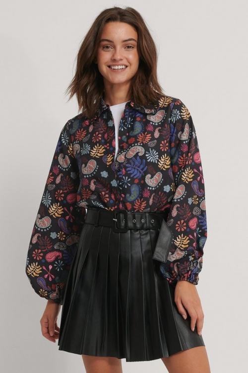 Na-kd - Mini jupe plissée en similicuir