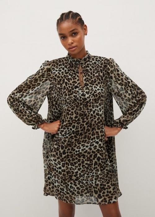 Mango - Robe léopard