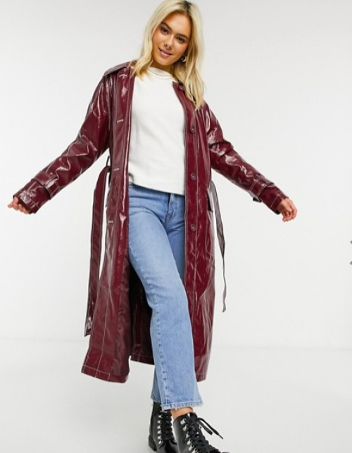 Asos DESIGN - Trench-coat en vinyle