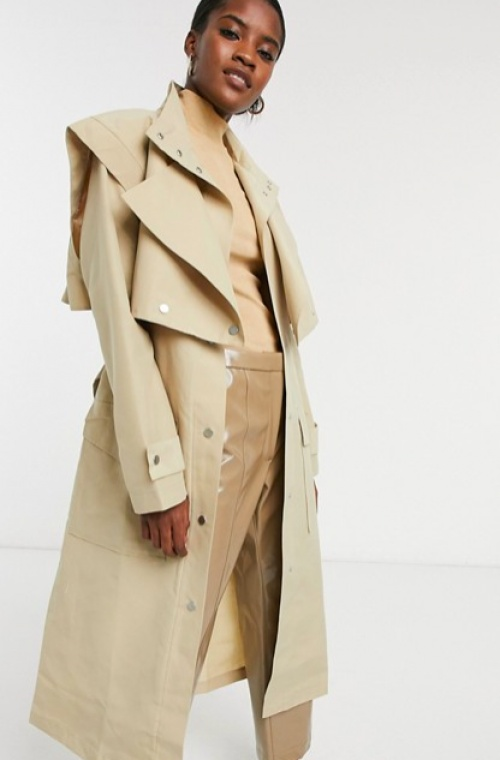 Asos DESIGN - Trench-coat sructuré