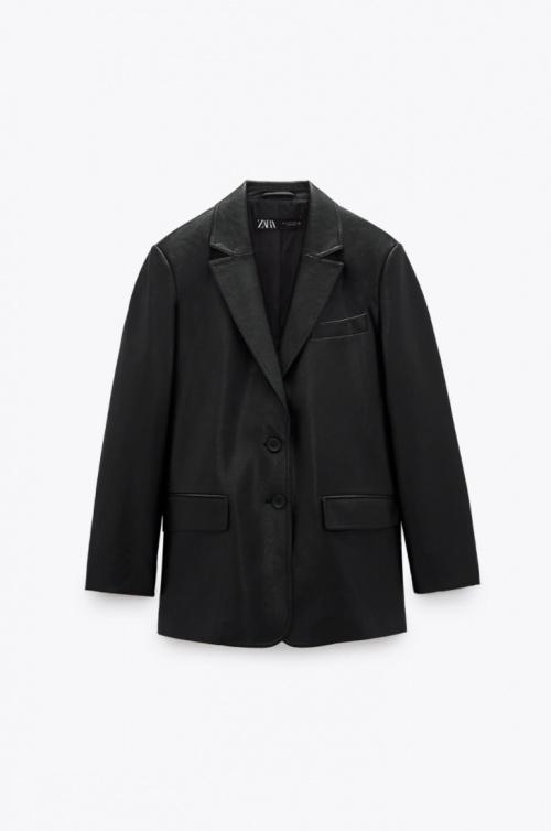 Zara - Blazer en simili cuir