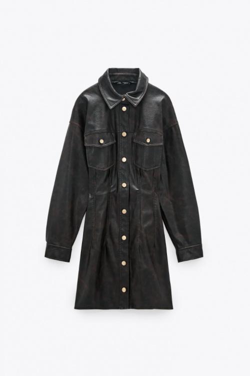 Zara - Robe en simili cuir