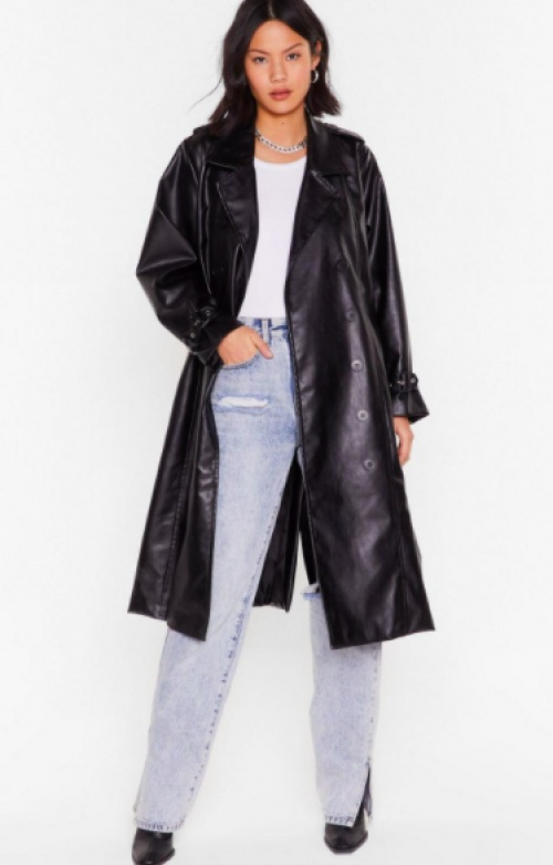 NastyGal - Trench en simili
