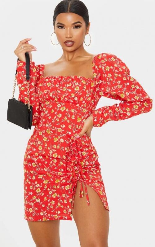 PrettyLittleThing - Robe à fleurs