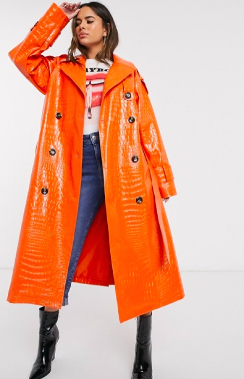 Asos DESIGN - Trench simili oversize