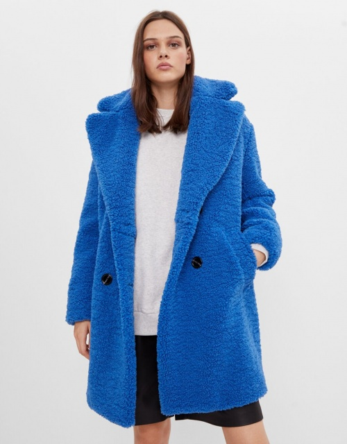 Bershka - Manteau en mouton synthétique