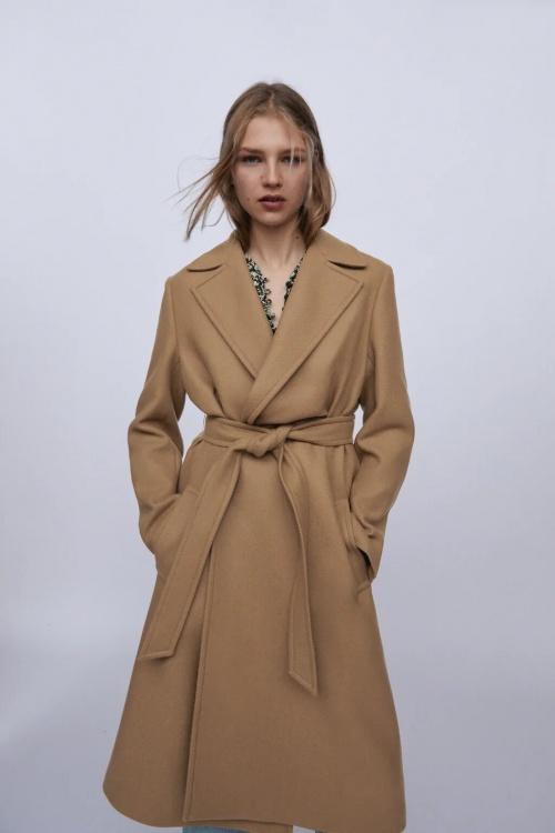 Zara - Manteau Camel