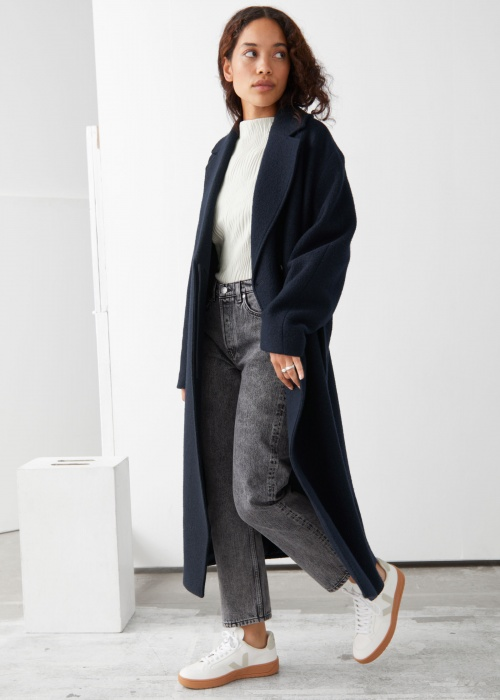 &Other Stories - Manteau avec ceinture