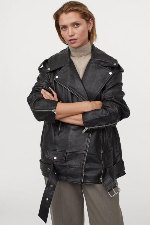 H&M - Veste en cuir oversize