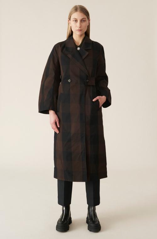 Ganni - Manteau à carreaux