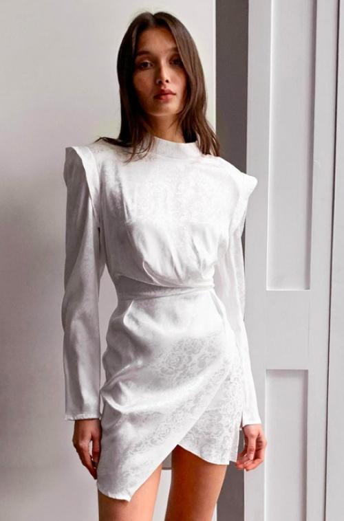Nastygal - Robe asymétrique en jacquard