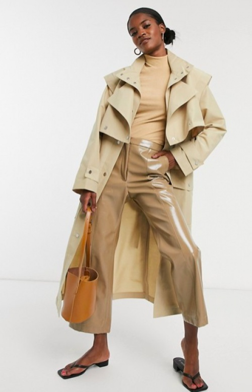 Asos DESIGN - Trench structuré