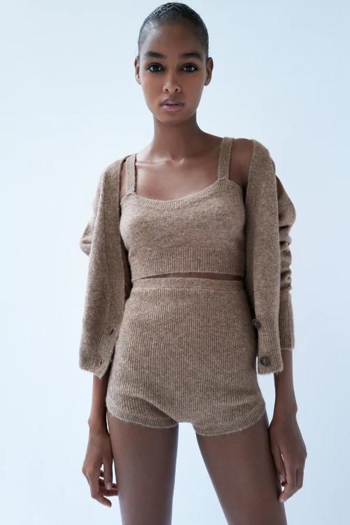 Zara - Short en maille