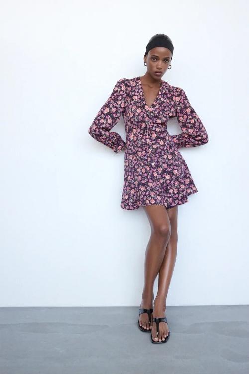 Zara - Robe imprimé fleuri