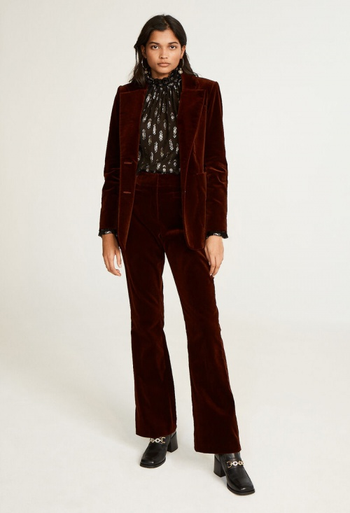 Claudie Pierlot - Veste de tailleur en velours
