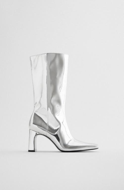 Zara - Bottines métalisées