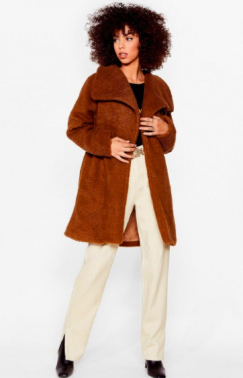 Nastygal - Manteau teddy bear