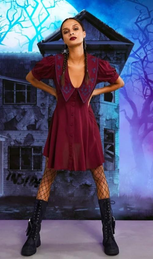 Asos  DESIGN - Robe rétro avec col Claudine