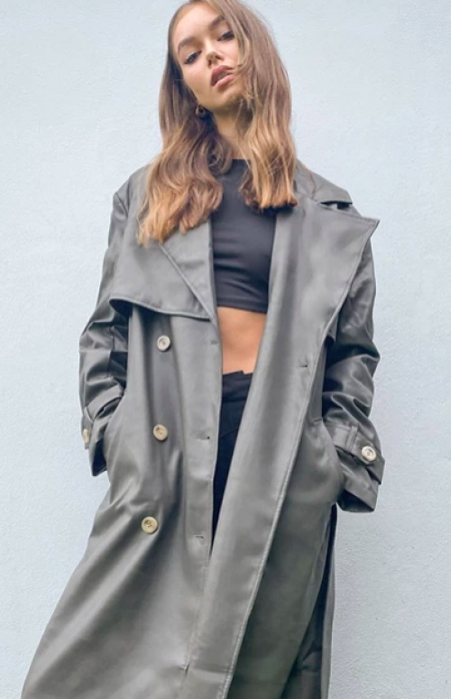 Asos DESIGN - Trench similicuir