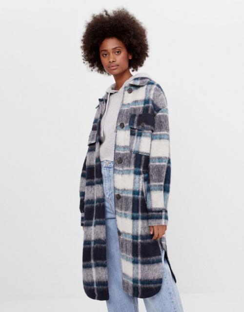Bershka - Manteau à carreaux