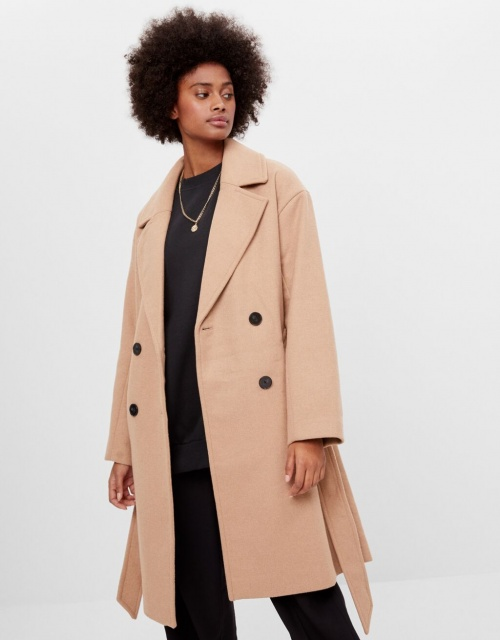 Bershka - Manteau en laine