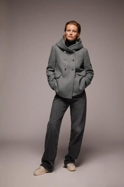 Zara - Manteau à col enveloppant