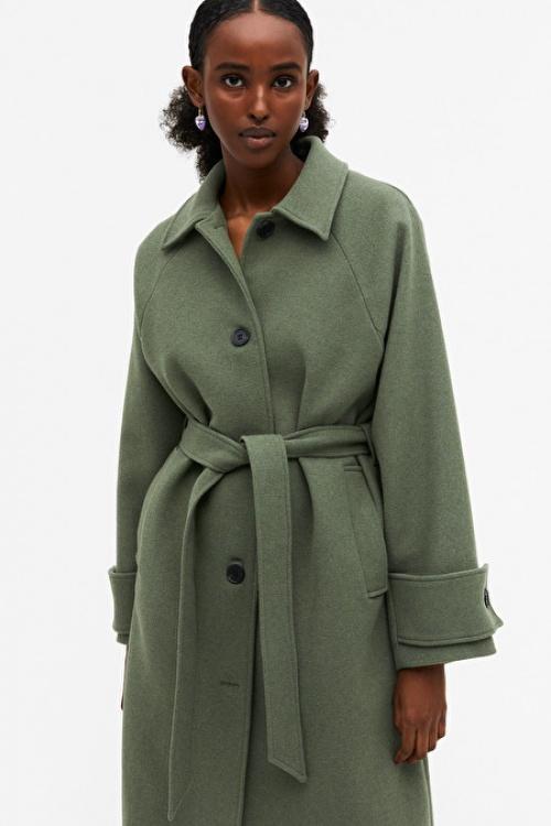 Monki - Manteau avec ceinture
