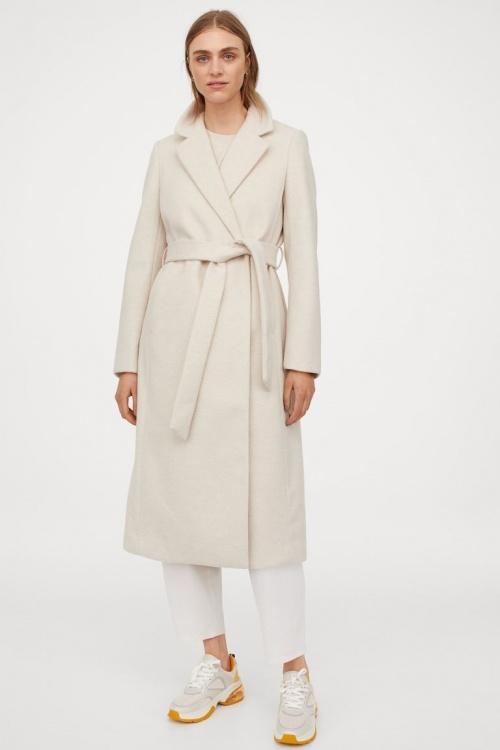 H&M - Manteau avec ceinture