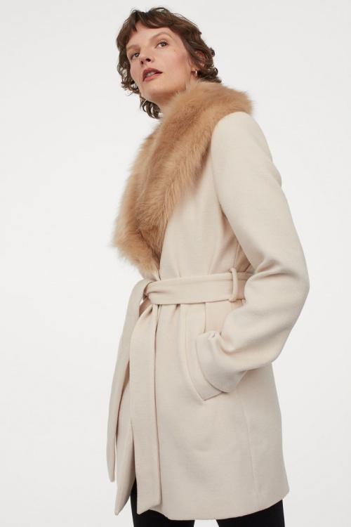 H&M - Manteau avec col fausse fourrure
