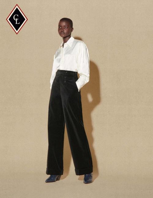 Sandro x Clara Luciani - Pantalon en velours