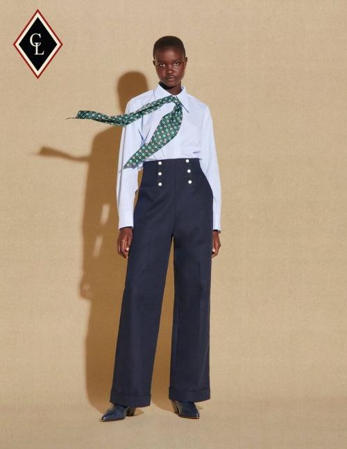 Sandro x Clara Luciani - Pantalon large